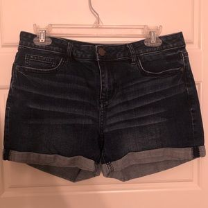 LC Dark-Wash Jean Shorts